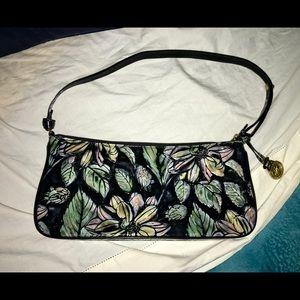 BRAHMIN Copa Cabana Baguette Bag Flower Handbag